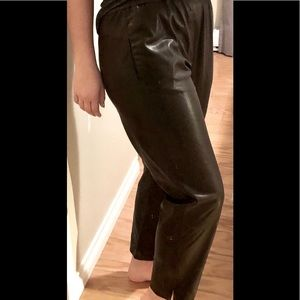 Pleather Trousers